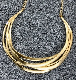 Jewelry KJLane: Brushed Gold Collar
