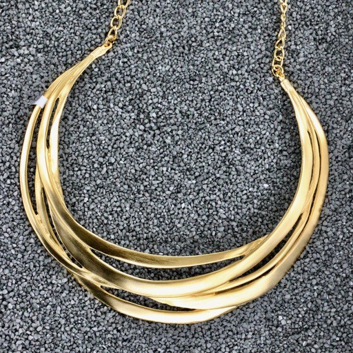 Jewelry KJLane: Brushed Gold Collar