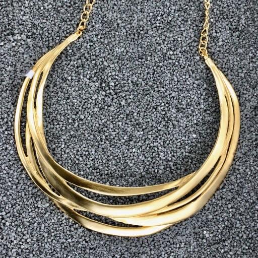 Jewelry KJLane: Cutout Collar Gold