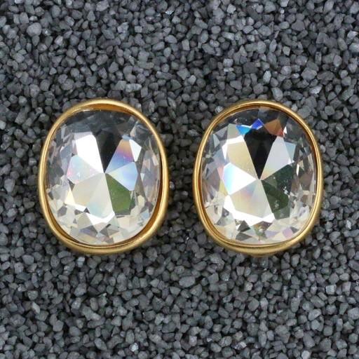 Jewelry KJLane: Gold Christal Oval