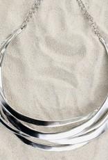 Jewelry KJLane: Silver Cutout Collar