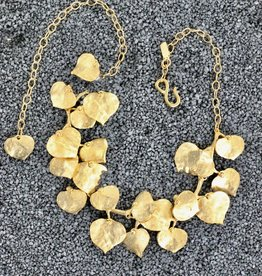 Jewelry KJLane: Gold Ivy Leaf Necklace