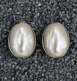 Jewelry KJLane: Simple Pearl w/Silver Bezel