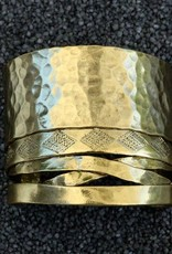 Jewelry KSultan: Gold Cuff w Hammer Strips