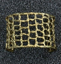 Jewelry KSultan: Gold Cuff With Webbing