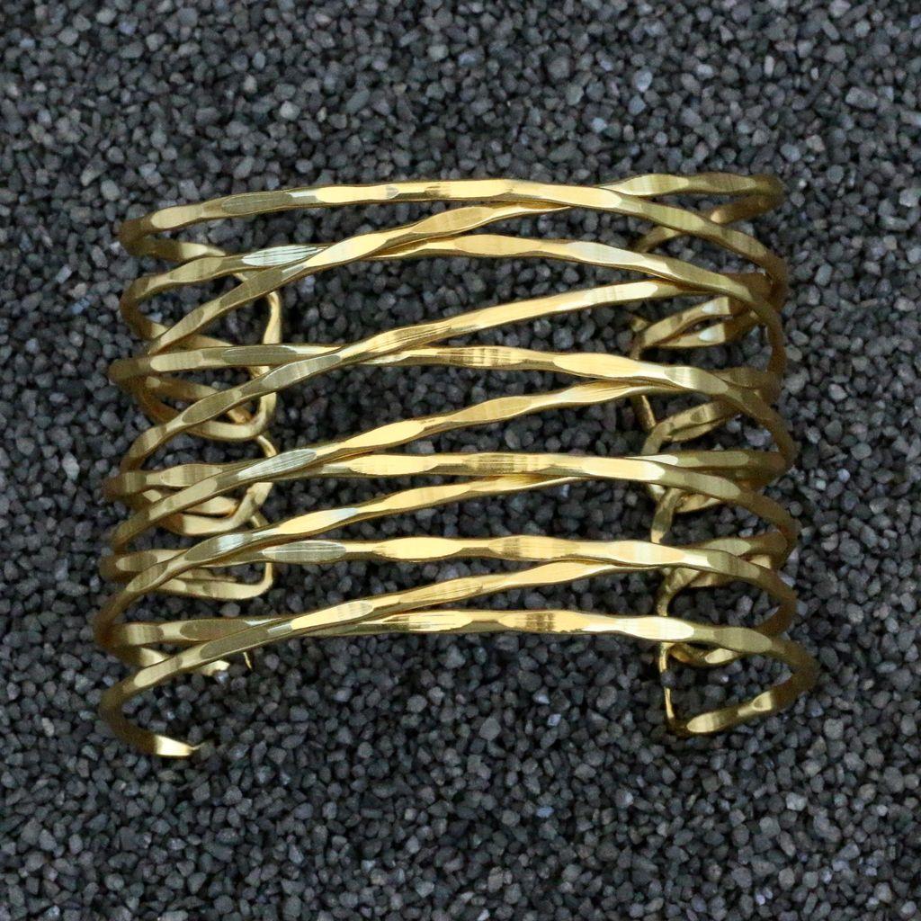 Jewelry KSultan: Gold Cuff w/Twisted Bands