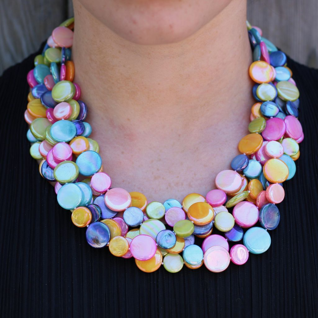 Jewelry VCExclusives: Chimes Glass Beads Multi Colored Bright