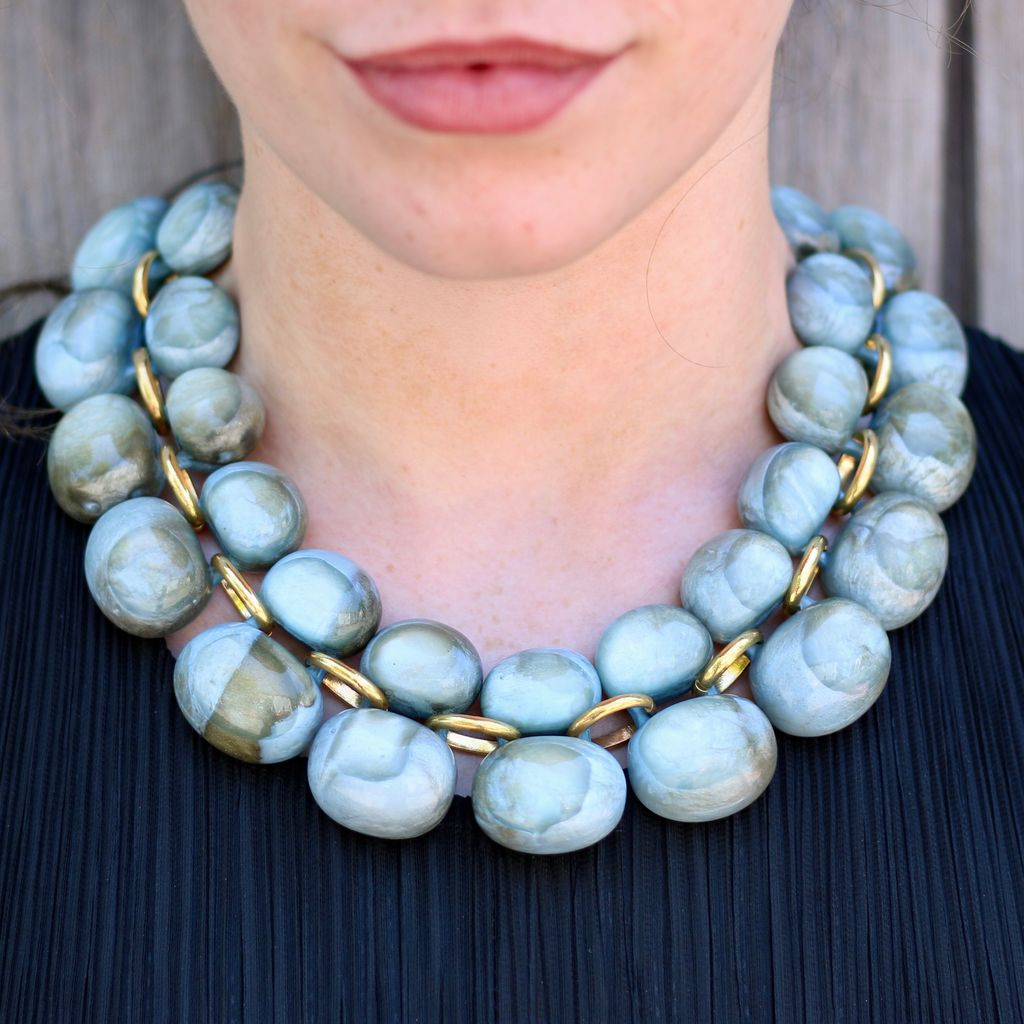 Jewelry Denaive: Andrea Blue Lucent Resin