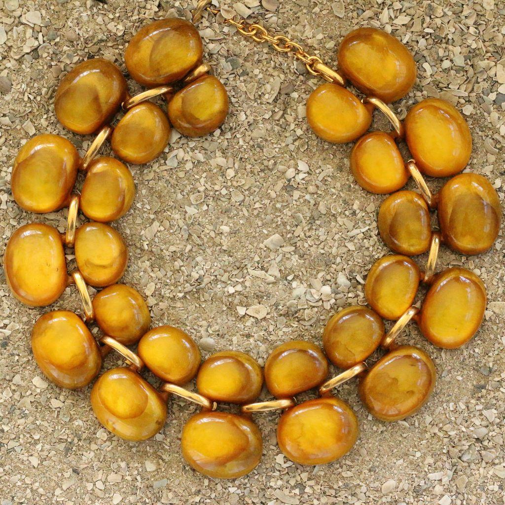 Jewelry Denaive: Andrea Saffron Lucent Resin