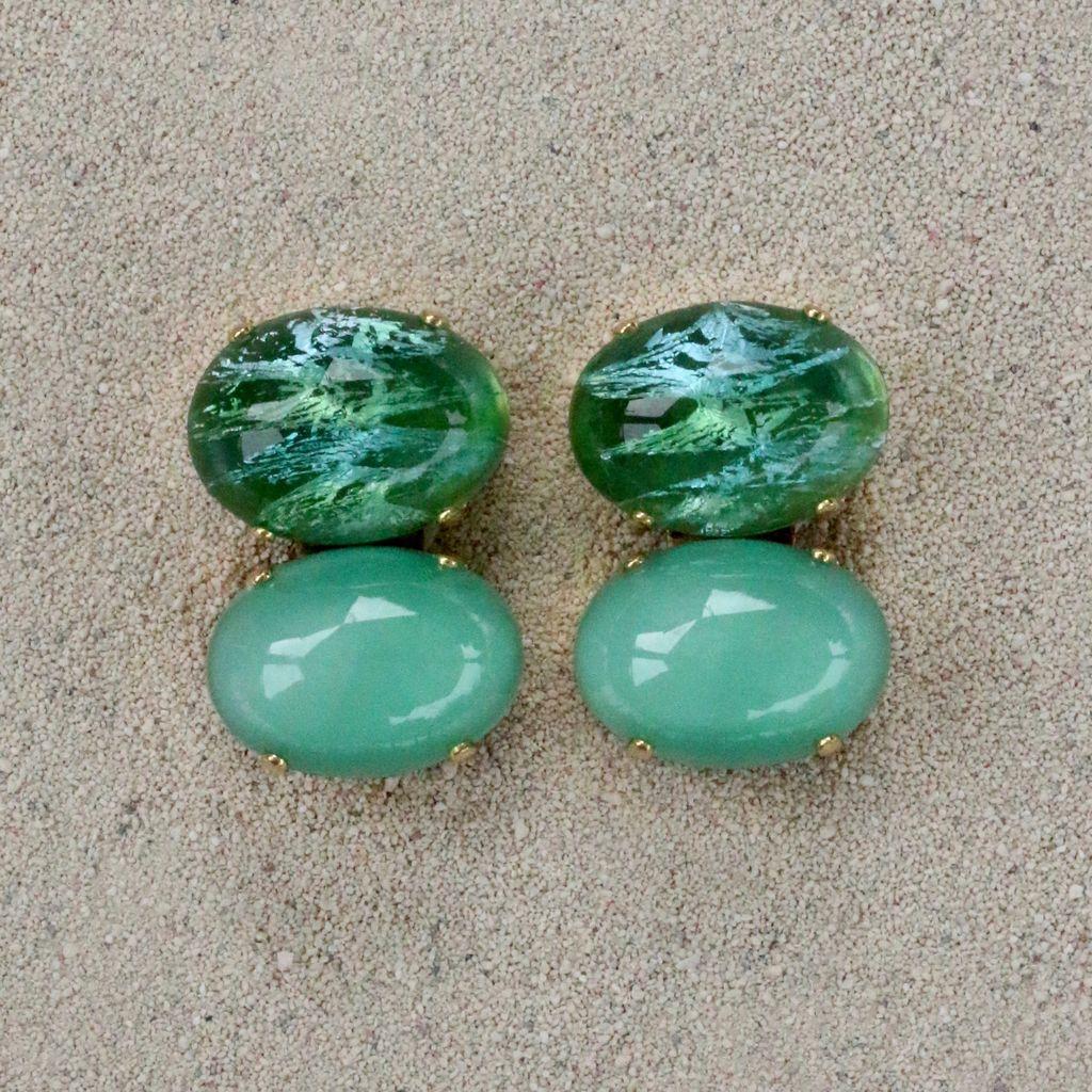 Jewelry Blinn: Two Stone Oval Jade