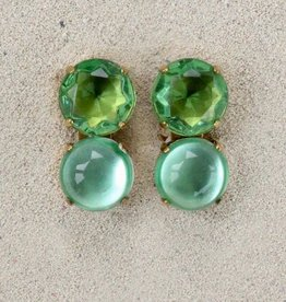 Jewelry Blinn: Two Stone Round Green