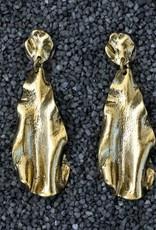 Jewelry KSultan: Gold Krinkle Drop