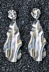 Jewelry KSultan: Silver Krinkle Drop Pierced