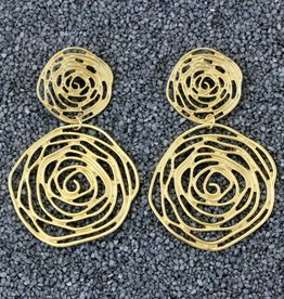 Jewelry KSultan: Gold Op Swirl Dangles