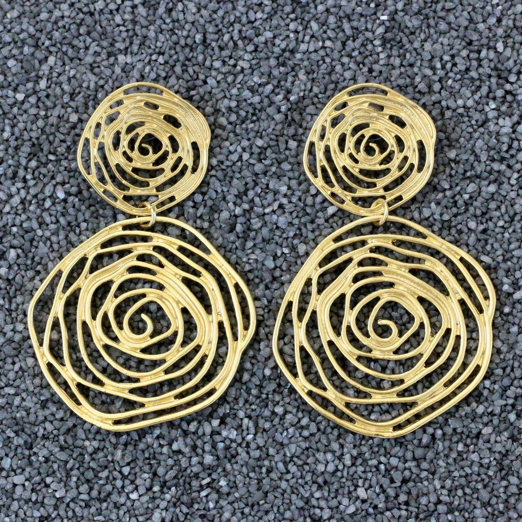 Jewelry KSultan: Gold Op Swirl Dangles