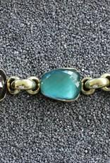 Jewelry Vaubet: Three Stone Hoop Links