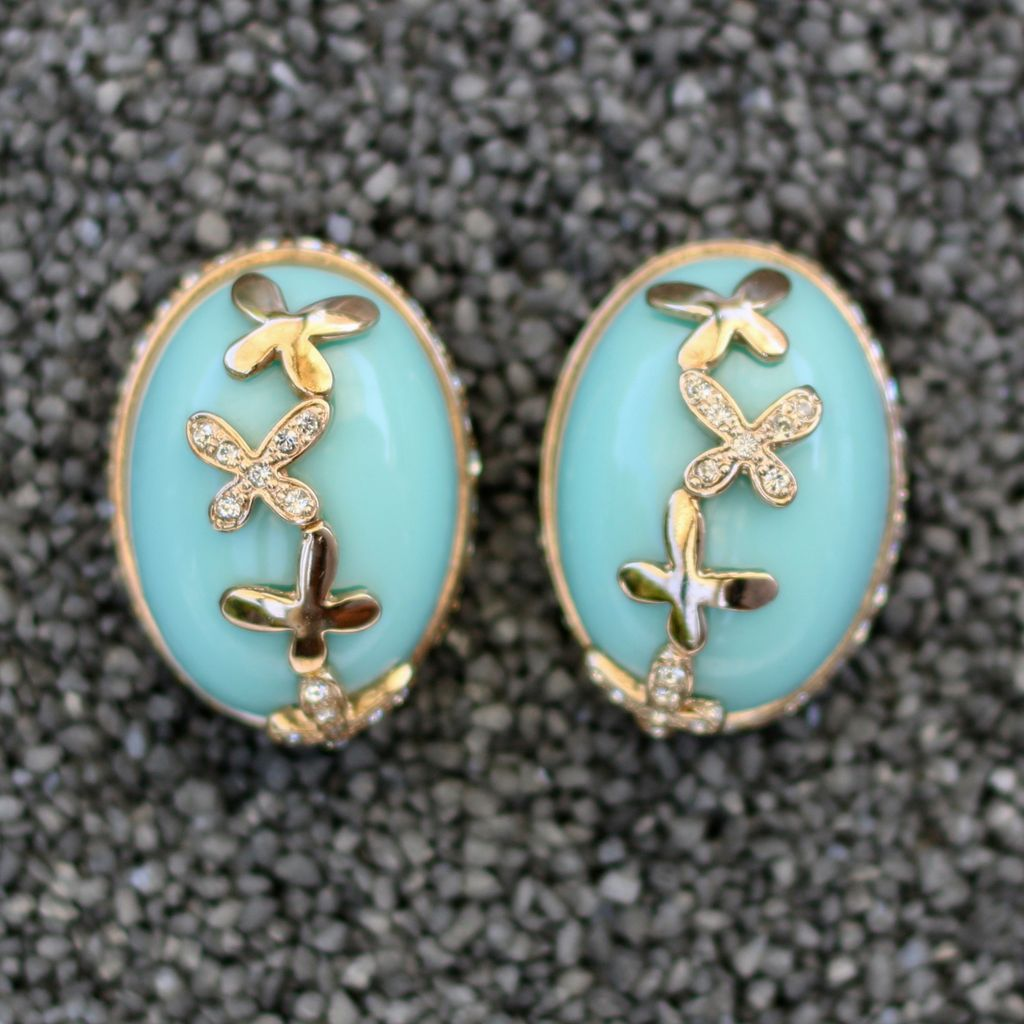 jewelry VCExclusives: Butterfly Lt Blue Pave