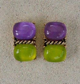 Jewelry VCExclusives: Two Piece Purple over Lime