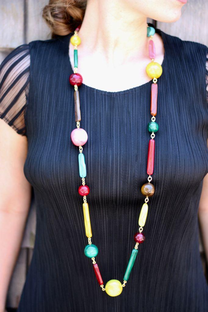 Jewelry Denaive: Long Multi Colored