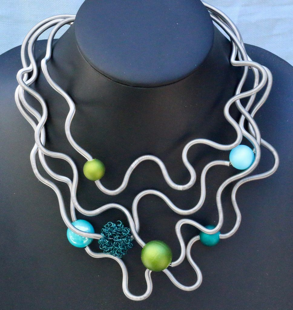 Jewelry VCExclusives: Sate Silver with Lime and Blue
