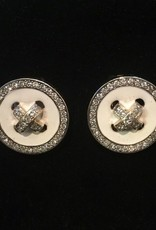 jewelry VCExclusives: Buttons  / White w/Crystals