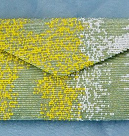 Handbags VCExlusives: Beaded Clutch / Yellow