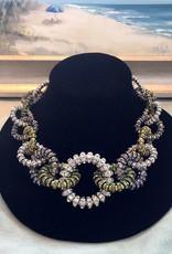 Jewelry FMontague: Rolls Links / Green & Blue