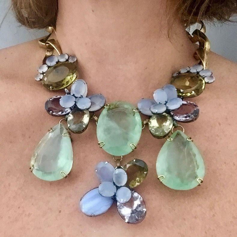 Jewelry Iradj: Semi precious Flowers