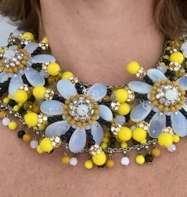 Jewelry FMontague: Jacqueline Clear Yellow Black