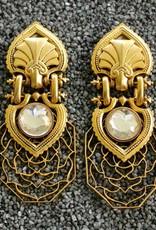 Jewelry Blinn: Lattice Gold w/Clear Inset