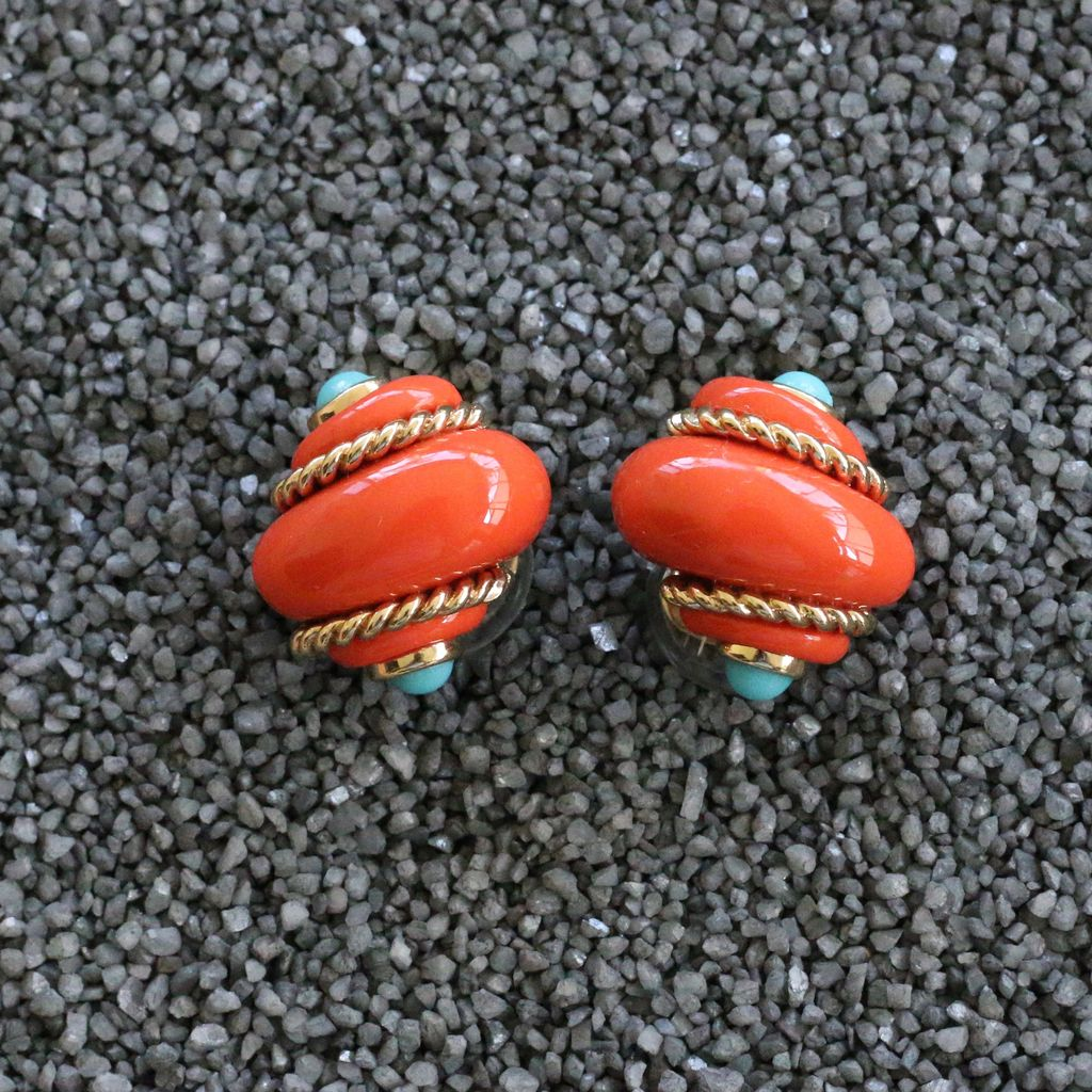Jewelry VCExclusives: Shell Coral w/Gold Rope & Turq Points