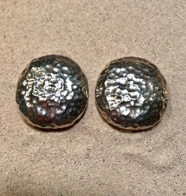 Jewelry Sebbag: Silver Hammered Button