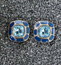 Jewelry VCExclusives: Square in Square Aquamarine & Blue