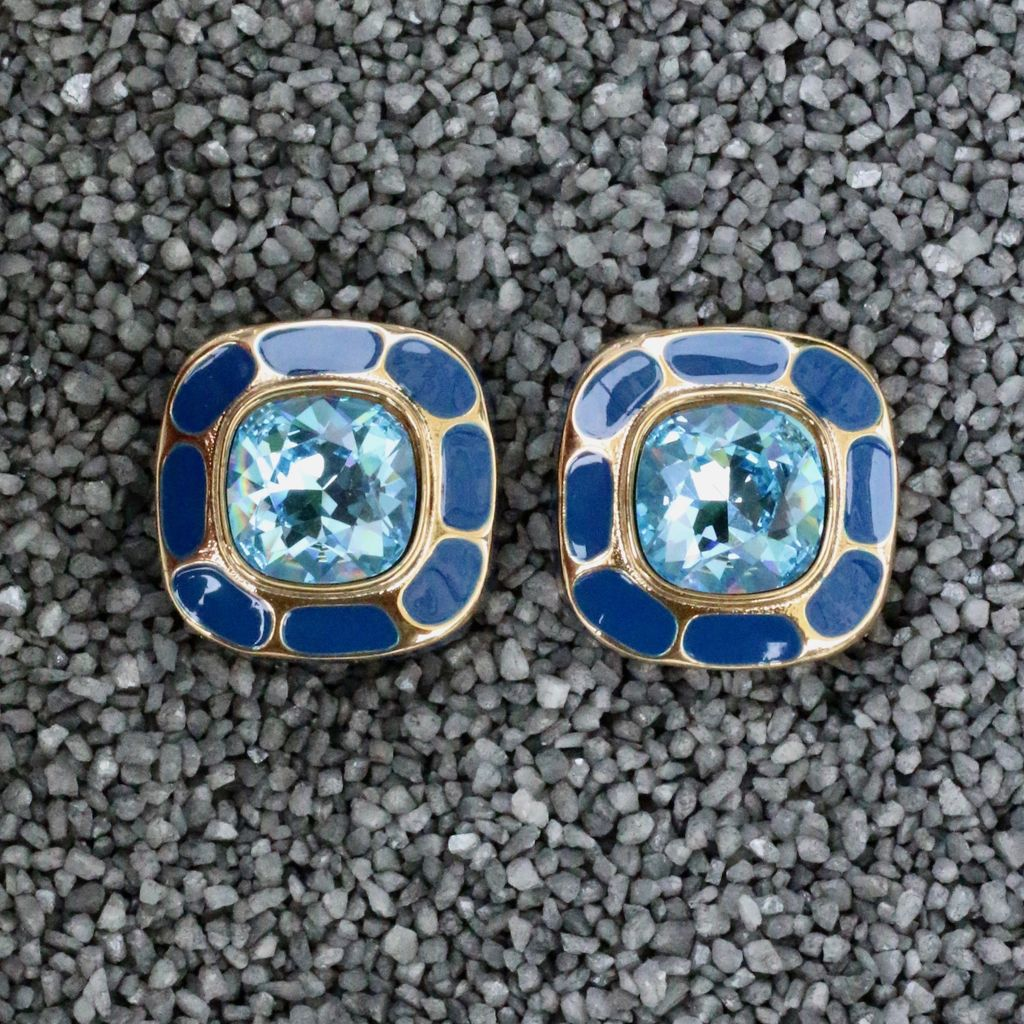 Jewelry VCExclusives: Square in Square Aquamarine & Blue