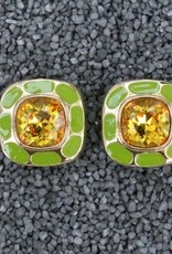 Jewelry VCExclusives: Square in Square Topaz & Green
