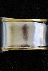 Jewelry KSultan: Modeled Silver Cuff with Gold
