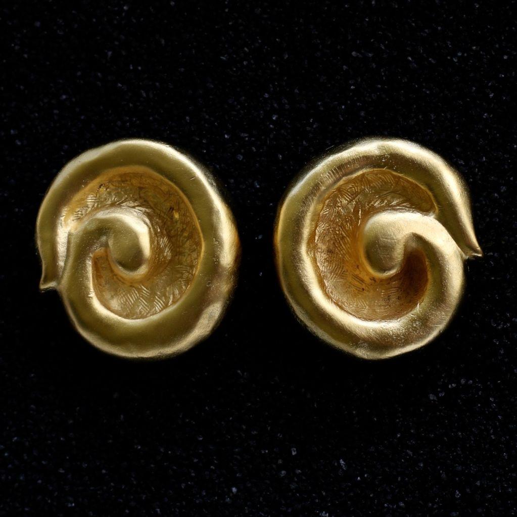 jewelry KJLane: Gold Satin Swirl