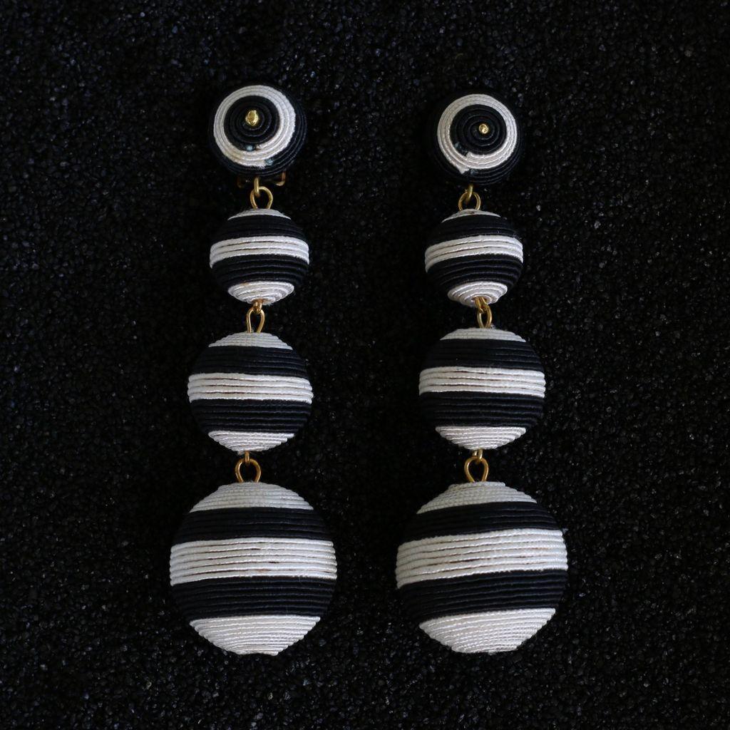 Jewelry KJLane: Balls Black and White