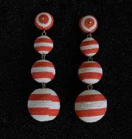 Jewelry KJLane: Balls Red and White