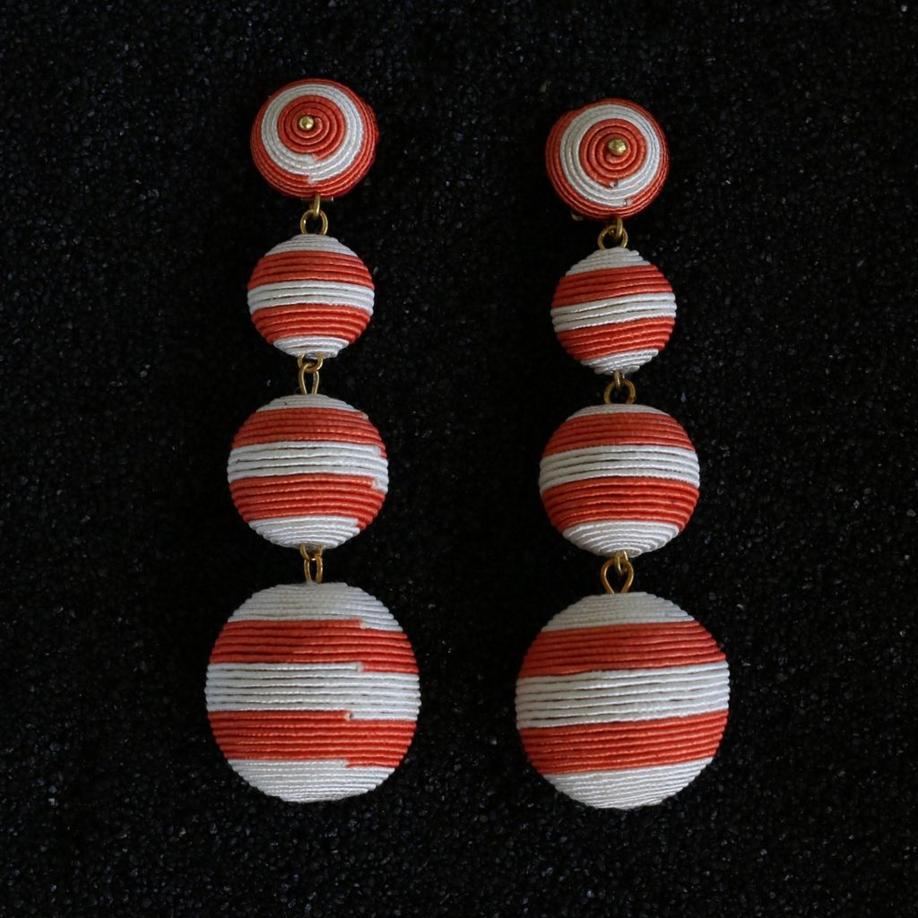 Jewelry KJLane: Balls Red and White