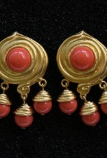 jewelry KJLane: Swirl & Droplets Coral & Gold