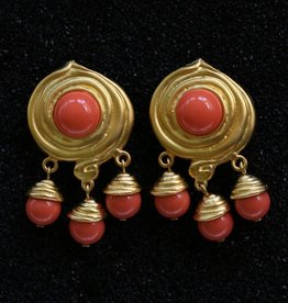 jewelry KJLane: Swirl & Droplets Coral & Gold