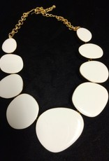 Jewelry KJLane: Random Circles White & Gold