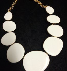 Jewelry KJLane: Random Circles White & Gold