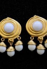 Jewelry KJLane: Swirl & Droplets White & Gold