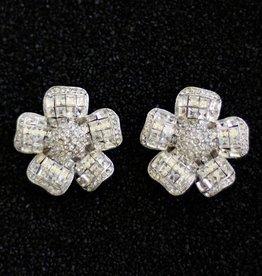 Jewelry Jardin: Clear Crystal Flower Large