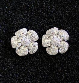 Jewelry Jardin: Clear Crystal Flower Med