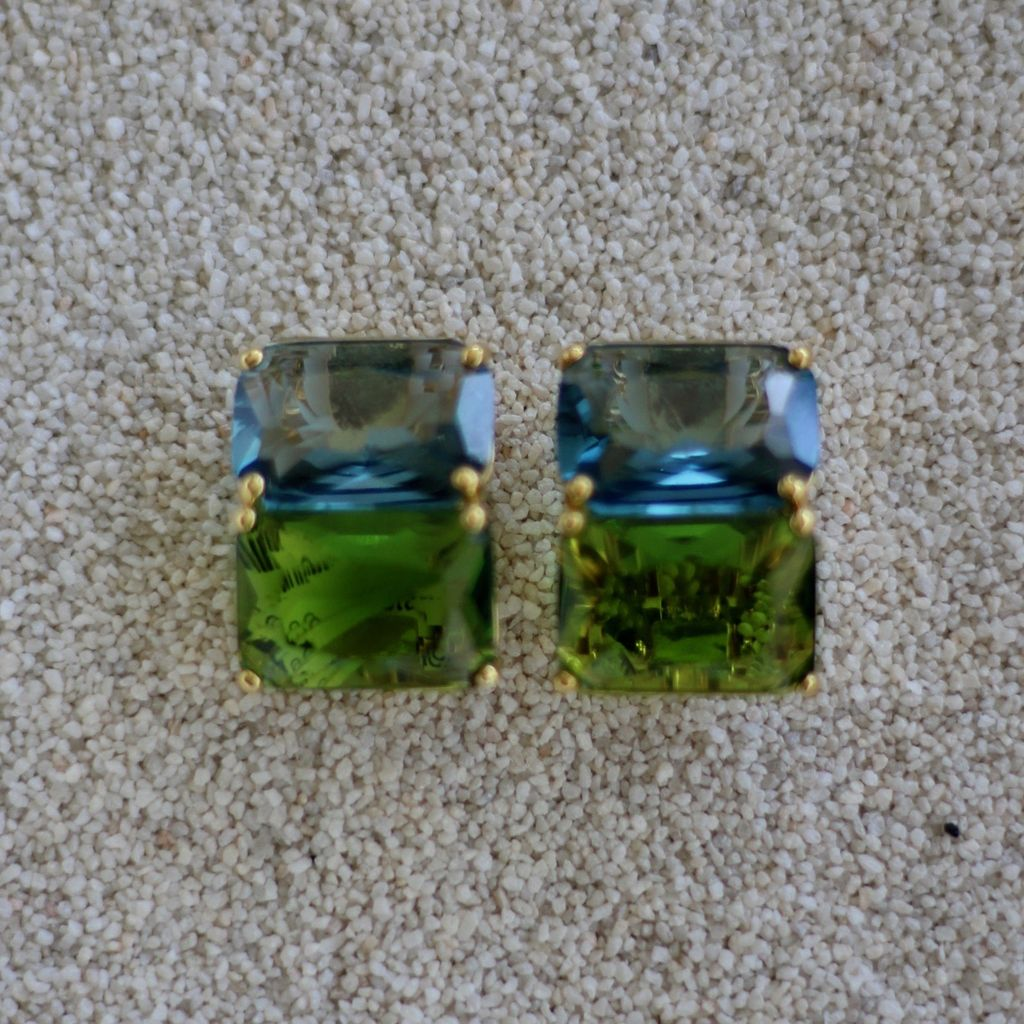 Jewelry Jardin: Clear & Green Double Stack