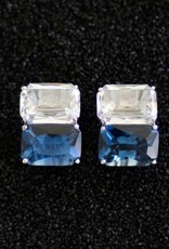 Jewelry Jardin: Clear & Blue Double Stack