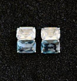 Jewelry Jardin: Clear & Aqua Double Stack